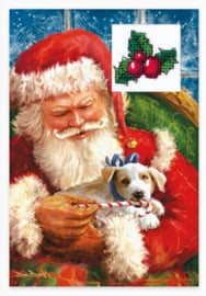 Borduurpakket Postcard - Christmas - Luca-S    ls-sp098