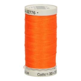 Gutermann naaigaren cotton 30 / 300 meter  1184 / fel oranje