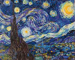 Diamond Dotz Starry Night (Van Gogh) - Needleart World    nw-dd09-001