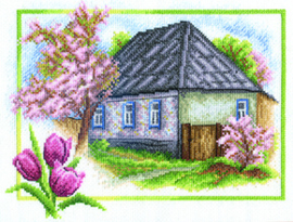 Borduurpakket Spring House - PANNA    pan-0332-ps