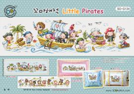 Borduurpakket Little Pirates - The Stitch Company    tsck-sog134