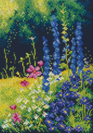 Borduurpakket Delphinium and Cosmos - RTO    rto-m00626