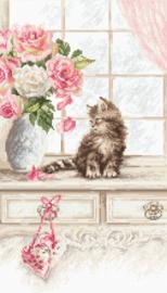 Borduurpakket Kitten - Leti Stitch    leti-0976
