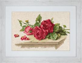 Borduurpakket Red Roses - Luca-S    ls-bl22411