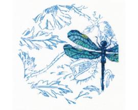 Borduurpakket Dance of dragonflies - RTO    rto-m70024