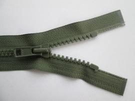 YKK Deelbare bloktand rits.  Olijf groen   kleurnr. 566