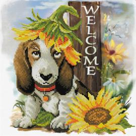 Voorbedrukt borduurpakket Sunflower Hound - Needleart World    nw-nc650-037