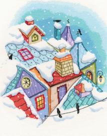 Borduurpakket Winter on the Roofs - RTO    rto-m00655