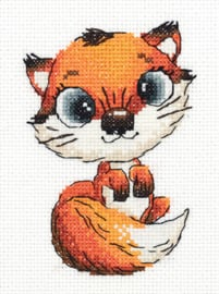 Borduurpakket Abby the Fox - PANNA    pan-08-0328