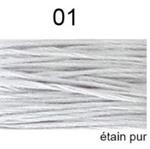 Dmc Mouliné Special / nieuwe kleur / Etain Pur / 01