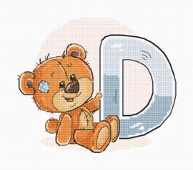 Borduurpakket Letter D - Luca-S    ls-b1205