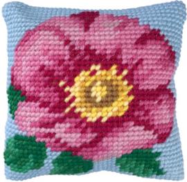 Kussen borduurpakket Wild Rose - Needleart World   nw-lh03-009