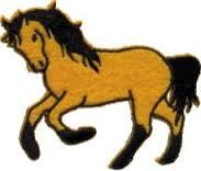 HKM Applicatie Paard met zwarte manen
