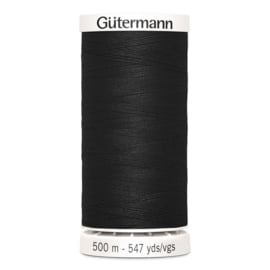 Gütermann /  500 meter / 000 / Zwart