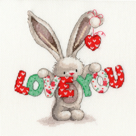 Borduurpakket Bebunni - Love You - Bothy Threads    bt-xbb09
