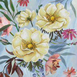 Voorbedrukt borduurpakket Wild Rose Bouquet - Needleart World    nw-nc650-034