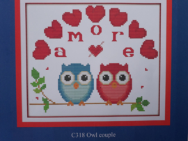 Cross Stitch / Owl couple