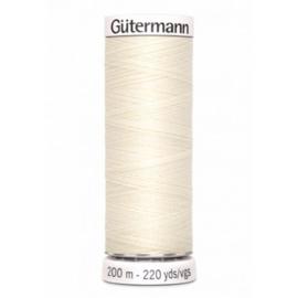 Gutermann alles naaigaren Gebroken Wit /  001  /  1 / 200 meter