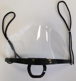 Gastvrij Mondkapjes transparant  zwart