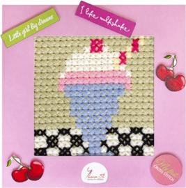 Borduurpakket My First Embroidery - Milkshake - Luca-S    ls-x007