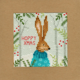 Borduurpakket Christmas Cards - Xmas Hare - Bothy Threads    bt-xmas10