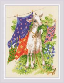 Borduurpakket Naughty Goat - RIOLIS    ri-1891