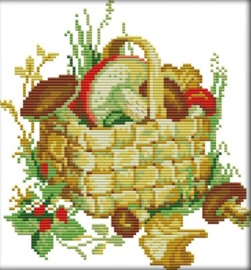 Cross Stitch / The mushroom basket