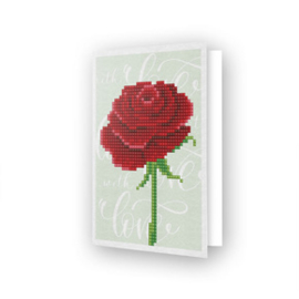 Diamond Dotz Greeting Card Love Rose - Needleart World    nw-ddg-017