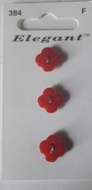 Knopen Elegant rood (384)