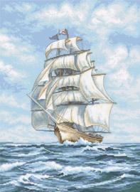 Borduurpakket Ship - Leti Stitch    leti-0907