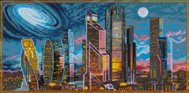 Diamond Painting Moscow at Night - Freyja Crystal    fc-alvr-150