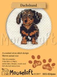 Borduurpakket Dachshund - Mouseloft    ml-00g-004