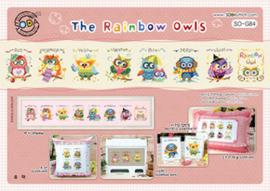 Borduurpakket The Rainbow Owls - The Stitch Company    tsck-sog084