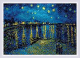 Diamond Mosaic Starry Night Over the Rhone after Van Gogh's Painting - RIOLIS    ri-am0044