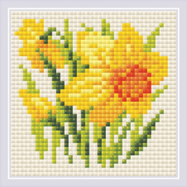 Diamond Mosaic Yellow Narcissus - RIOLIS    ri-am0032