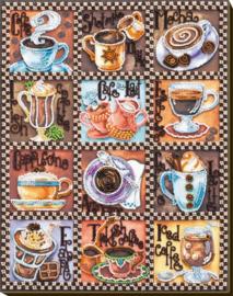 Kralen borduurpakket Coffee Map - Abris Art    aa-ab-638