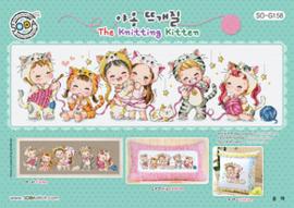 Borduurpatroon The Knitting Kitten - Soda Stitch    so-g158