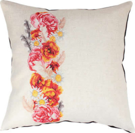 Borduurpakket Pillow Roses - Luca-S    ls-pb127