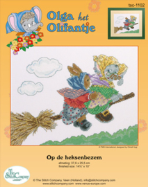 Borduurpakket Op de Heksenbezem - The Stitch Company    tsck-1102e