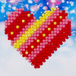 Diamond Dotz Patchwork Heart - Needleart World    nw-dds-007