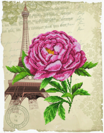 Voorbedrukt borduurpakket Romantic Rose - Needleart World    nw-nc650-029