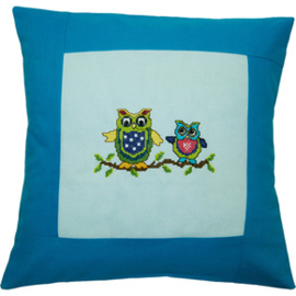 Pillow 40 x 40cm Lt.blue-Turquoise Counted X-Stitch - Duftin    d-0571019713