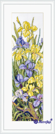 Borduurpakket Frogs in the Flowers - Merejka    mer-k135