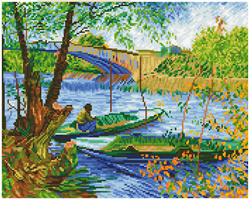 Diamond Dotz Fishing in Spring (Van Gogh) - Needleart World    nw-dd09-036