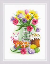 Borduurpakket Easter Still Life with Bunny - RIOLIS  ri-1948