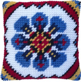 Kussen borduurpakket Indian Blue - Needleart World nw-lh03-012