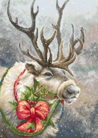 Petit Point borduurpakket Christmas Deer - Luca-S    ls-g598