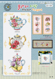 Borduurpakket Flower Teapot - The Stitch Company    tsck-sog087