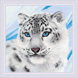 Borduurpakket Snow Leopard - RIOLIS    ri-1886