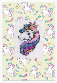 Borduurpakket Postcard Unicorn - Luca-S    ls-sp081